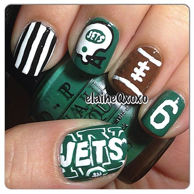 New York Jets nails. Requested by @colleenmartino Bengals took care ...