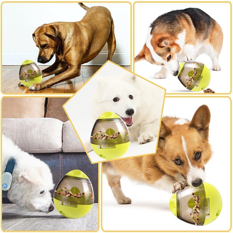 Huashen Treat Dispenser Feeder Dog Treat Toys Ball Tumbler Feeder