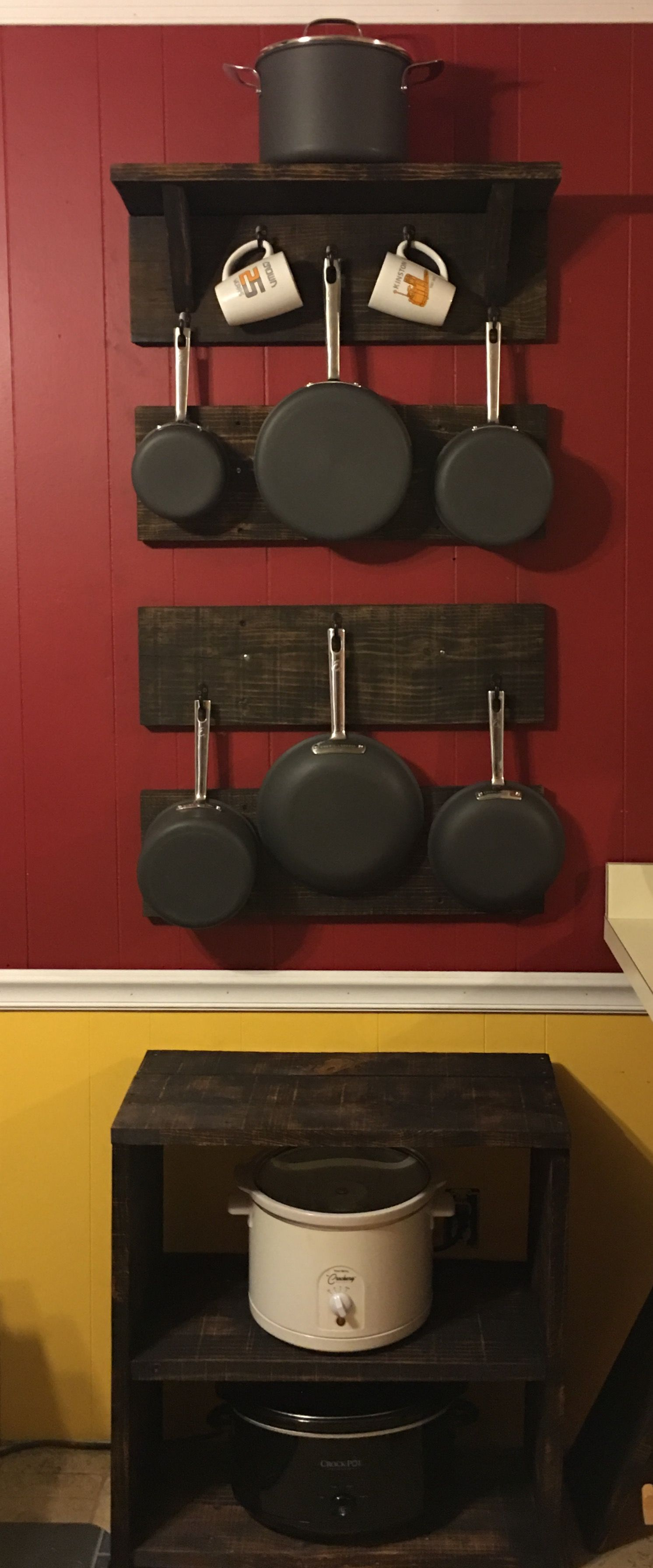 My pallet pot and pan rack projects Pinterest