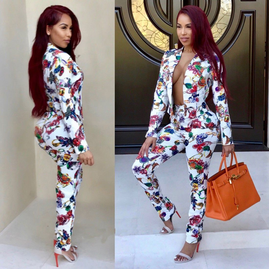 Tipsclass Fashion to night out printed jumpsuit forecast to wear in summer in 2019