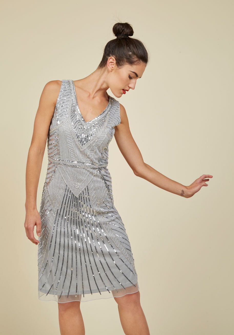 f9172a09bed All the More Allure Dress - Grey