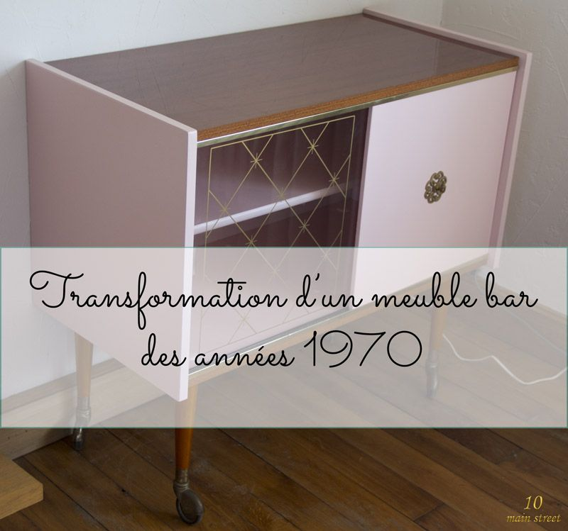 Rénovation d\u0027un meuble bar des années 1970 plaqué acajou verni