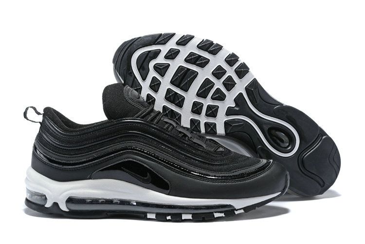 58204816926b5 2018 Factory Authentic Men Nike Air Max 97 Premium Negra White 917646-003