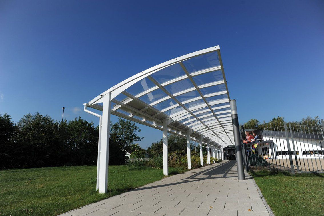 Covered Walkway Designs For Homes: St. John Fisher Canopy Type 2 Covered Walkway