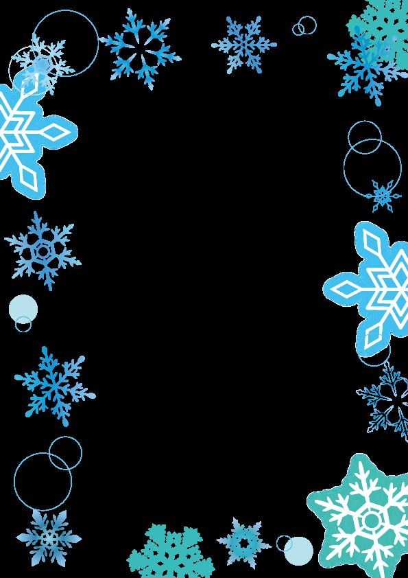 雪の結晶フレーム枠 縦 素材 花 フレーム 雪 背景 フレーム