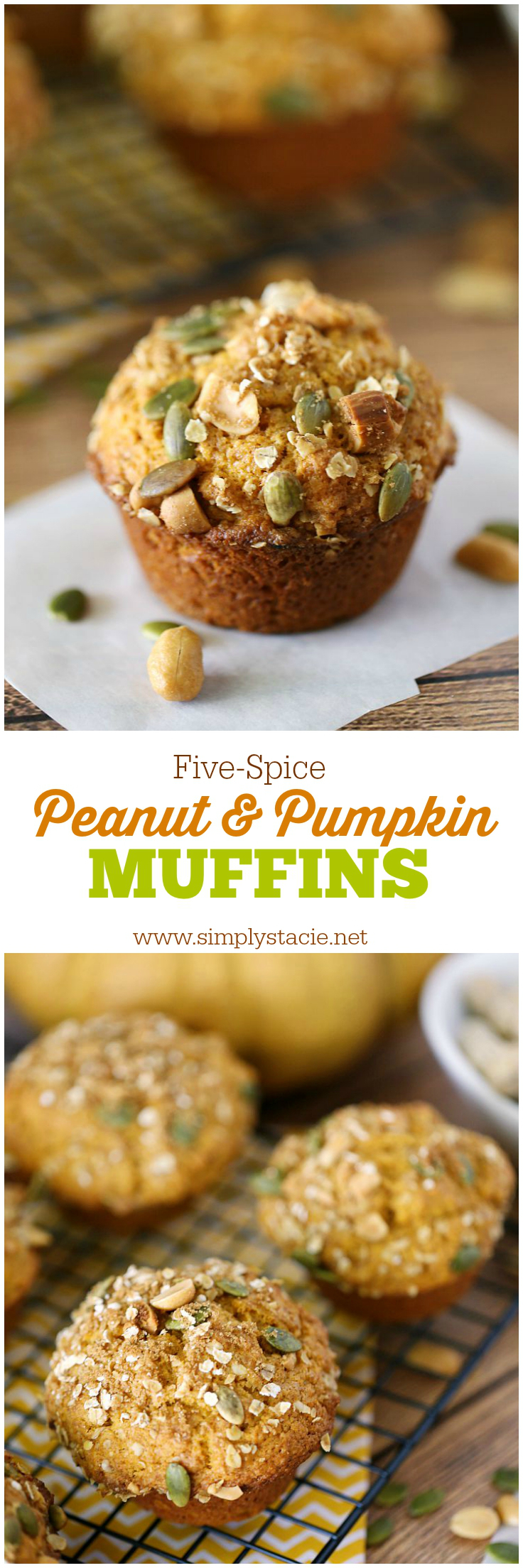 Five-Spice Peanut & Pumpkin Muffins - Incredibly moist and delicious, Five-Spice Peanut & Pumpkin Muffins are easy to make and perfect for fall.