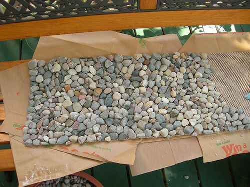 River Rock Fireplace Mat By Allormutton Via Flickr Crafts Rock