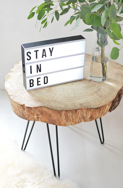 Diy Tree Slice Hairpin Table Wood Slice Coffee Table Log Coffee