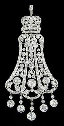 Antique Diamond Platinum Pendant