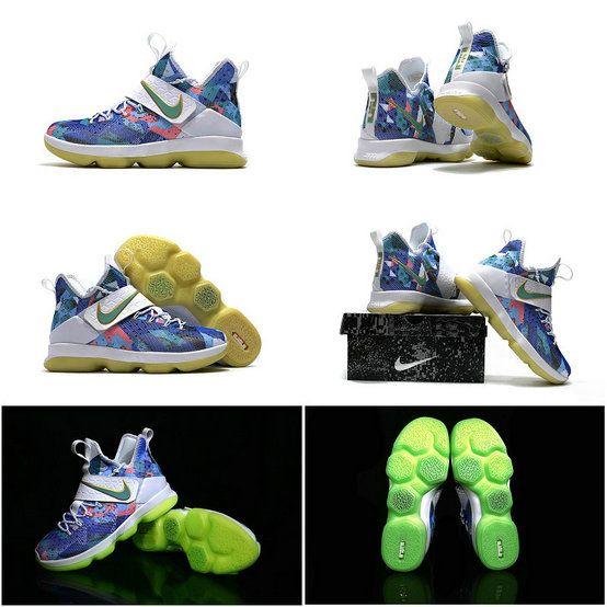 New LeBron James Shoes New LeBron James Shoes 2017 2018 Lebron 14 XIV  Floral Green Glow