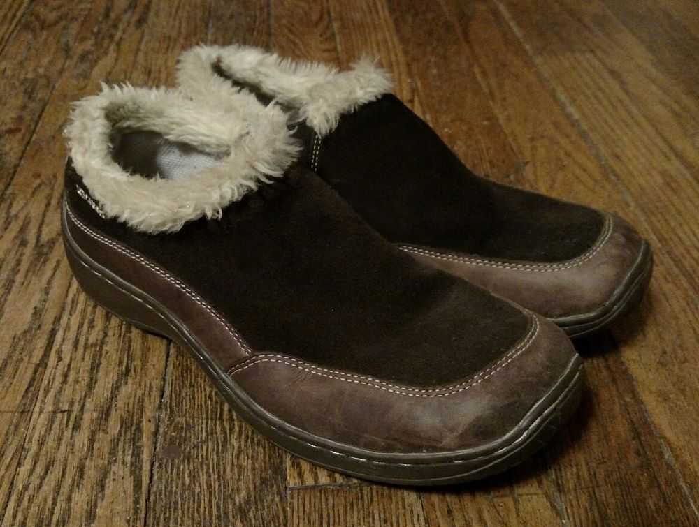 27ab73c0eb6c Skechers Coffee Color Leather Slip On Shoes with Fur Size 10  Skechers   LoafersMoccasins