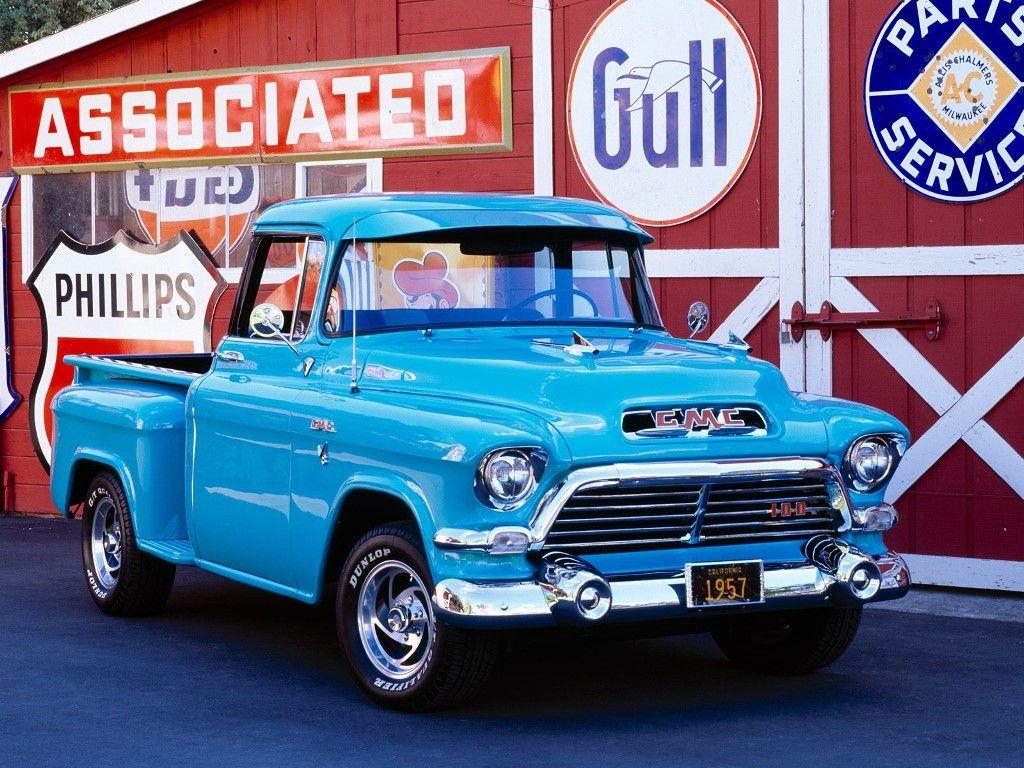 Vehicles Wallpaper: Pickup Truck 1957 | wish list | Pinterest ...