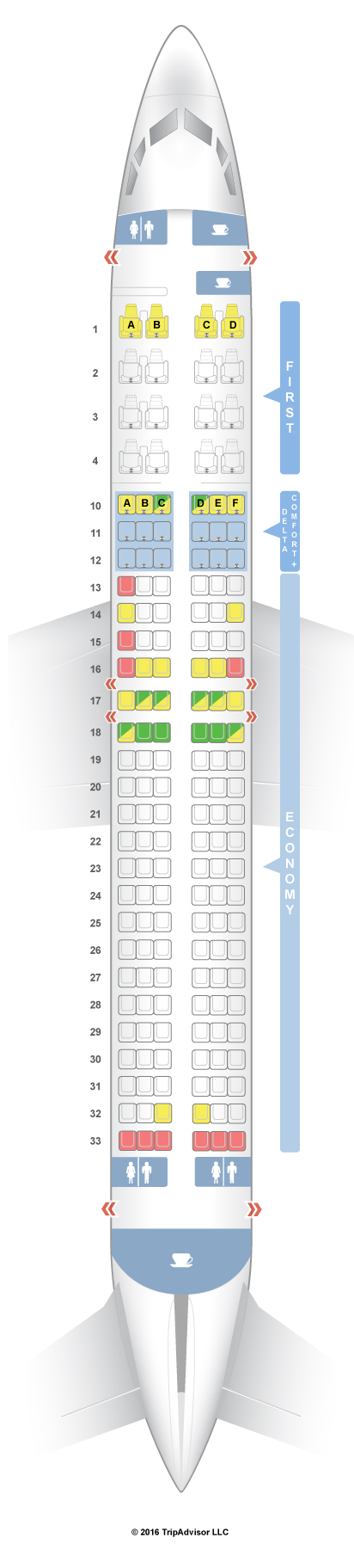Seatguru Seat Map Delta Boeing 737 800 73h Seatguru Economy Seats British Airways