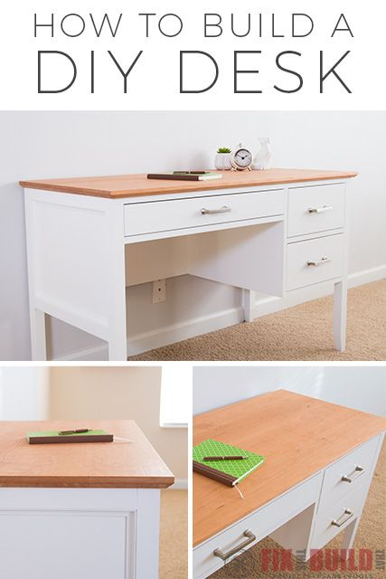 List of Cool DIY Desk from fixthisbuildthat.com