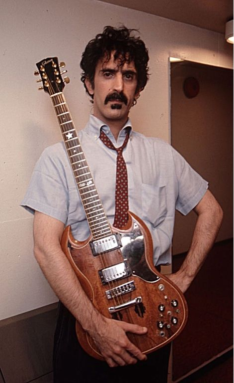 guitar Naked zappa lady