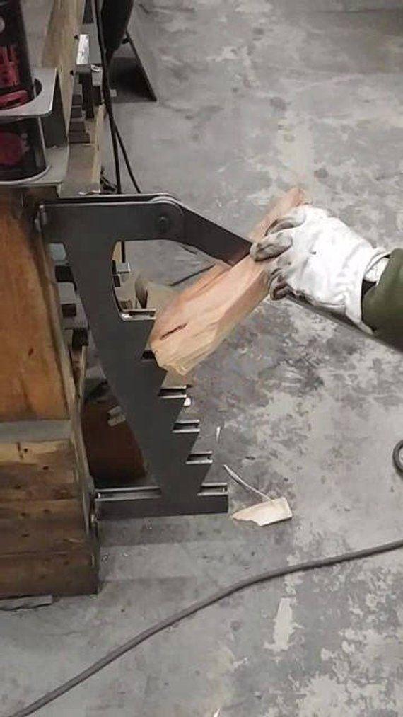 Photo of Sturdy Metal Wall Mount Kindling Splitter, Kindling Maker, Wood Splitter, Fire P…