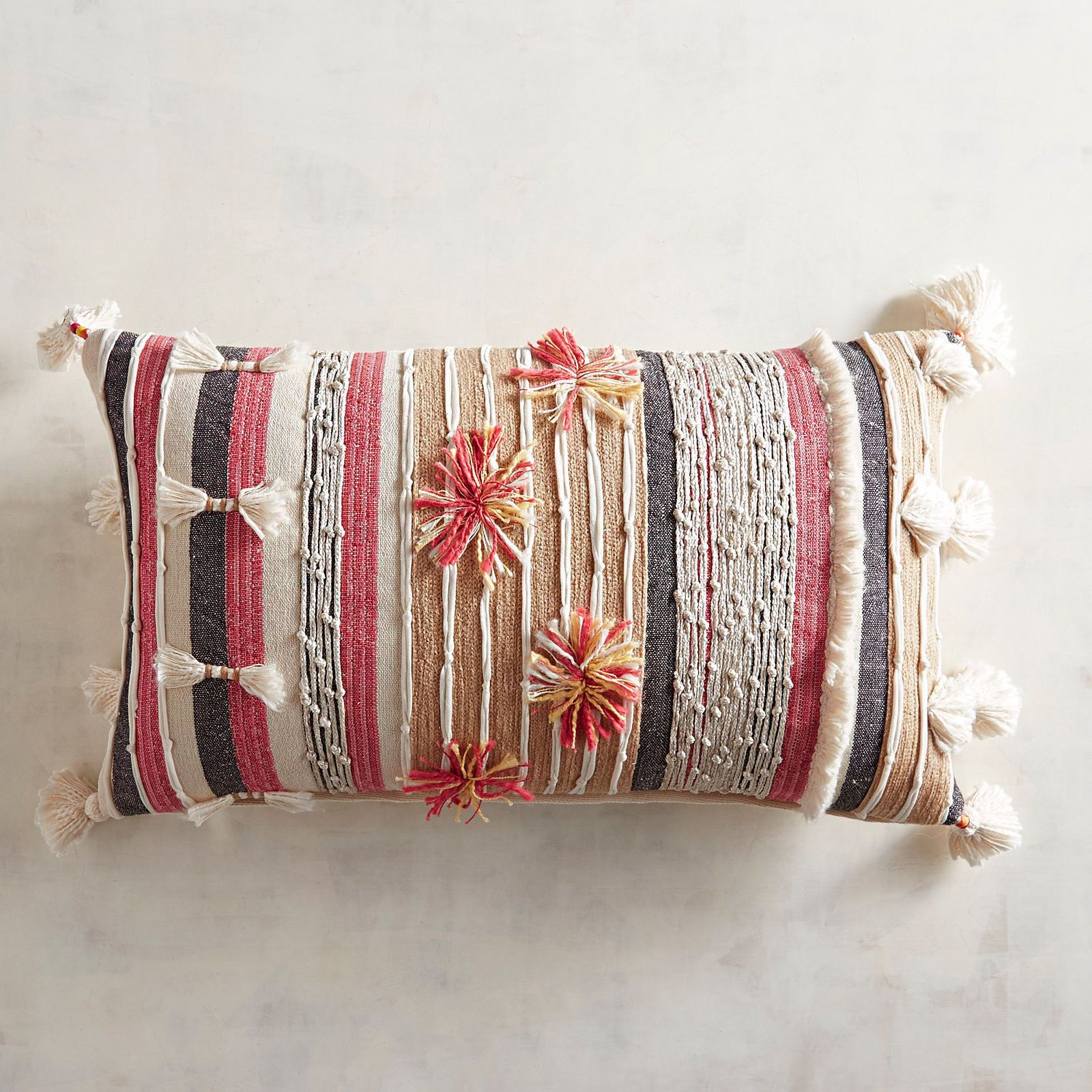 Tufted textured striped pillow hey mtv welcome to my crib