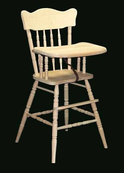 Old Fashioned High Chair Wood High Chairs Wooden High