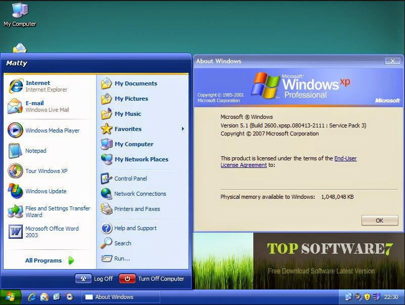 free download windows xp professional service pack 3 full version