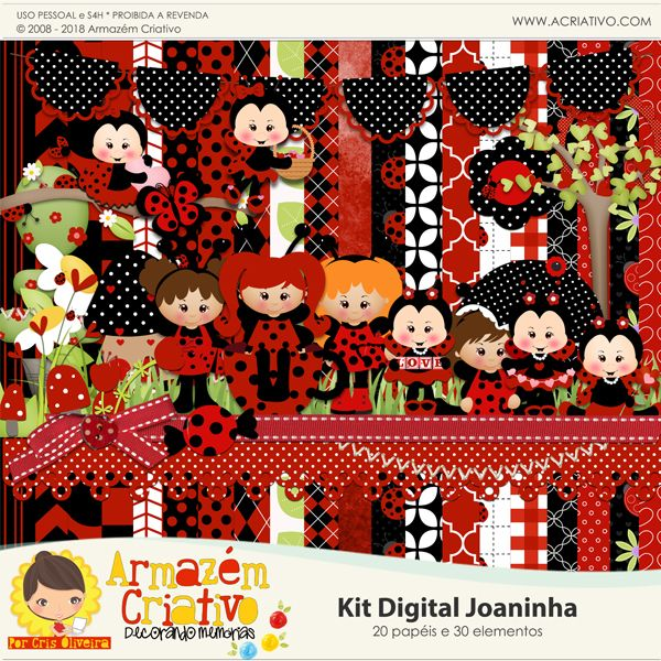 Kit digital Joaninha - Armazém Criativo