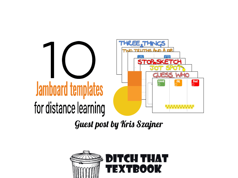 10 Jamboard Templates For Distance Learning Ditch That Textbook Distance Learning Online Teaching Teacher Technology