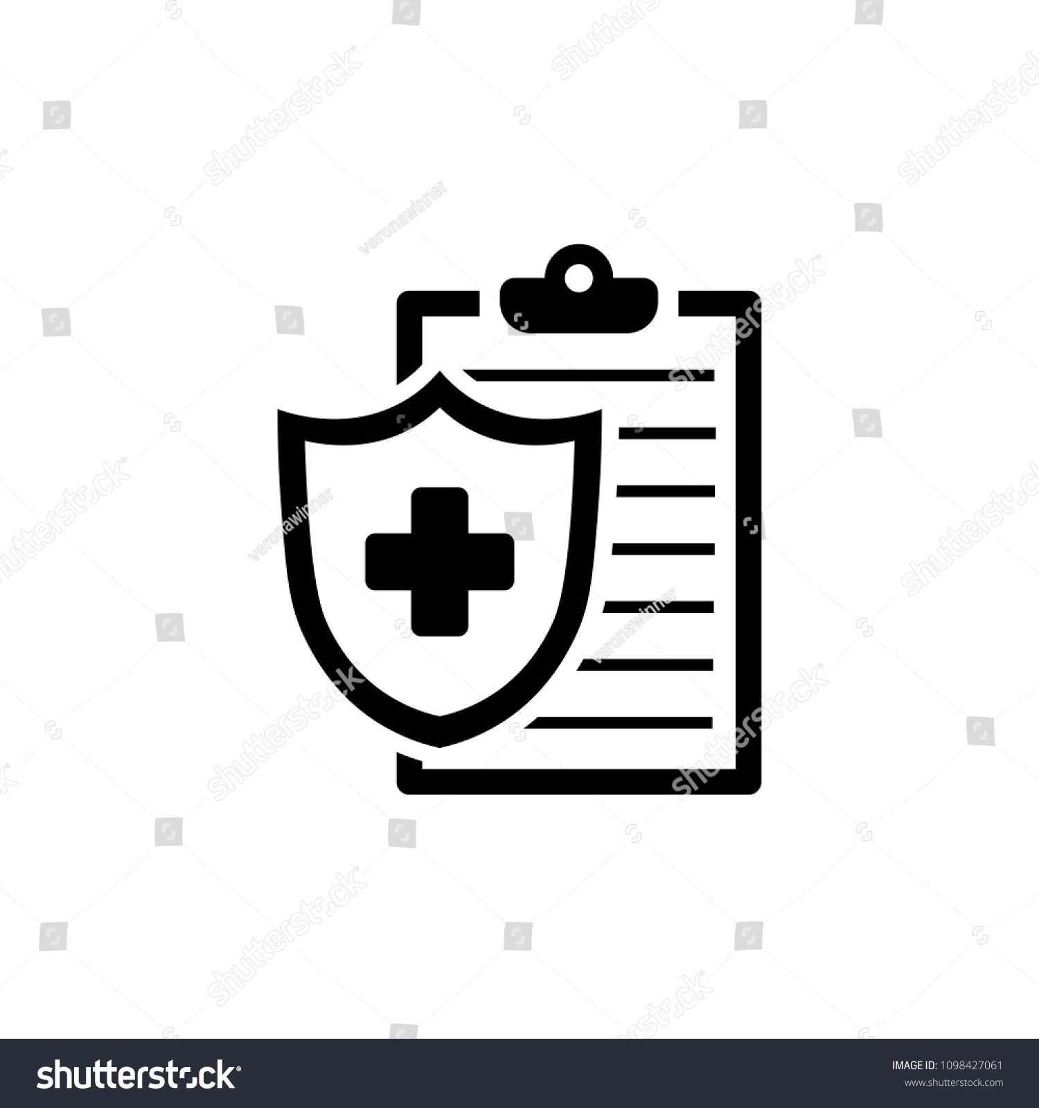 Medical insurance icon in flat style health insurance
