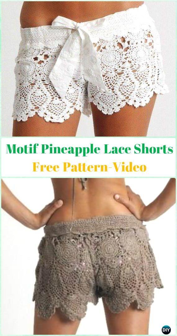 taglia 40 ec3bc d0441 Crochet Summer Shorts & Pants Free Patterns Adult Size ...