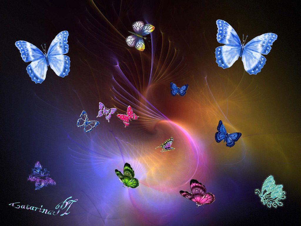 Fairies and Butterflies Background | Colourful Butterflies ...