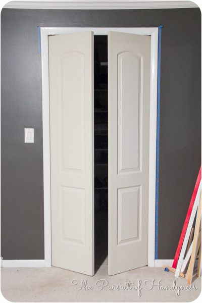 Trim Down Bifold Doors Tutorial To French I Wanted My Door Function As A So Added An Additional Pivot Pin Set The Opposite Side