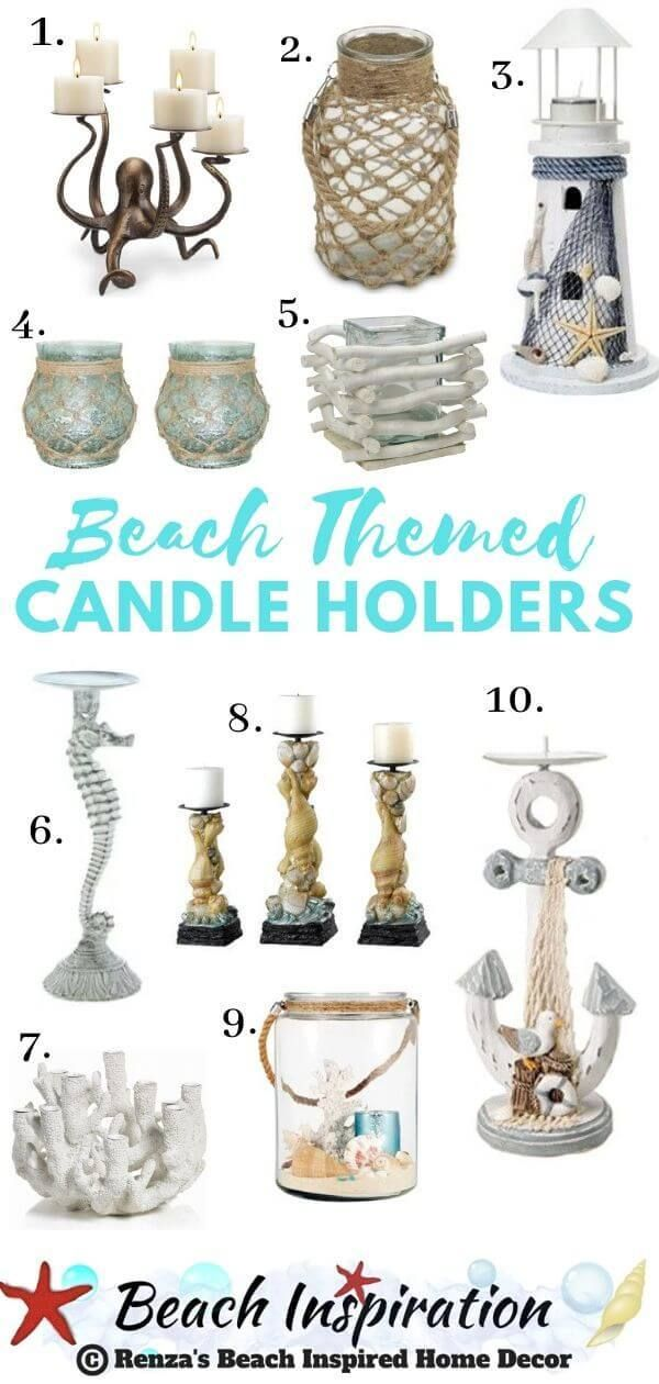 Photo of Beach Themed Candle Holders