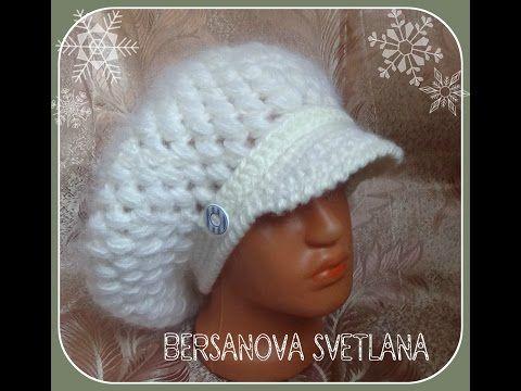 Теплая шляпка крючком. Часть 1 - донышко .Crochet hat with fields ...