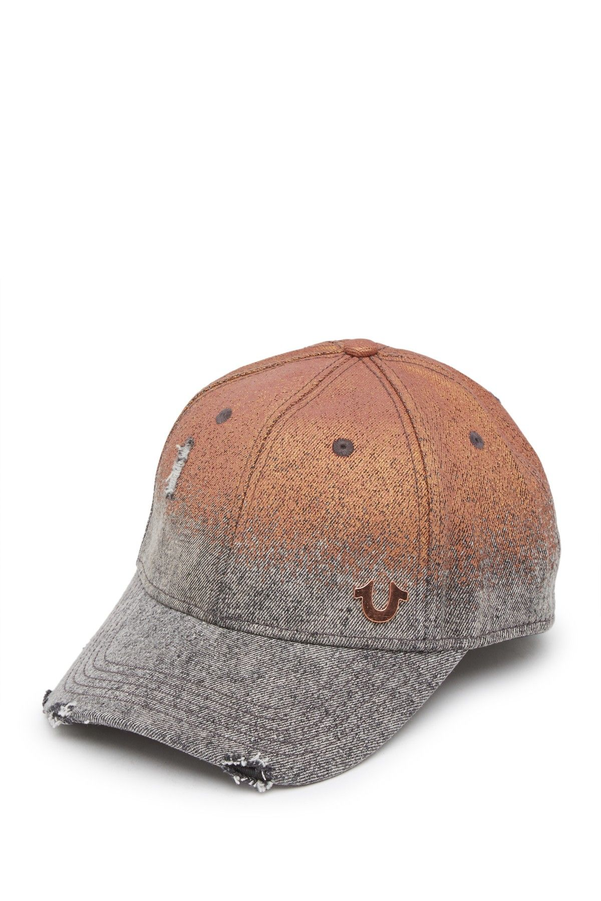 117d7029 True Religion - Rusty Metallic Baseball Cap is now 54% off. Free Shipping  on orders over $100.