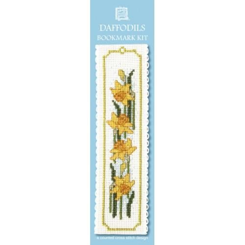 Daffodils Bookmark Cross Stitch Kit by Textile Heritage