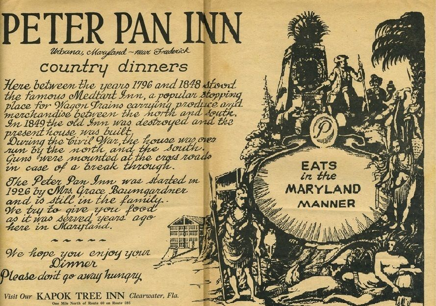 Peter pan restaurant maryland google search places of