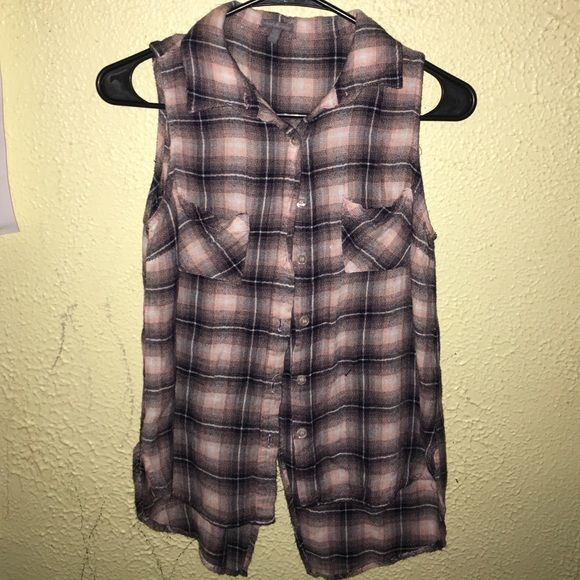 Button up muscle Has small hole but picture above very easy to fix. Charlotte Russe Tops Muscle Tees