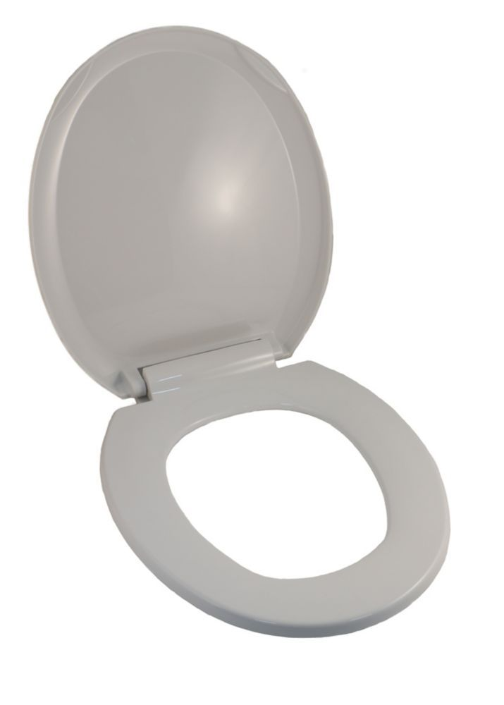 Universal Round Front Bowl Toilet Seat In White With Slow Close
