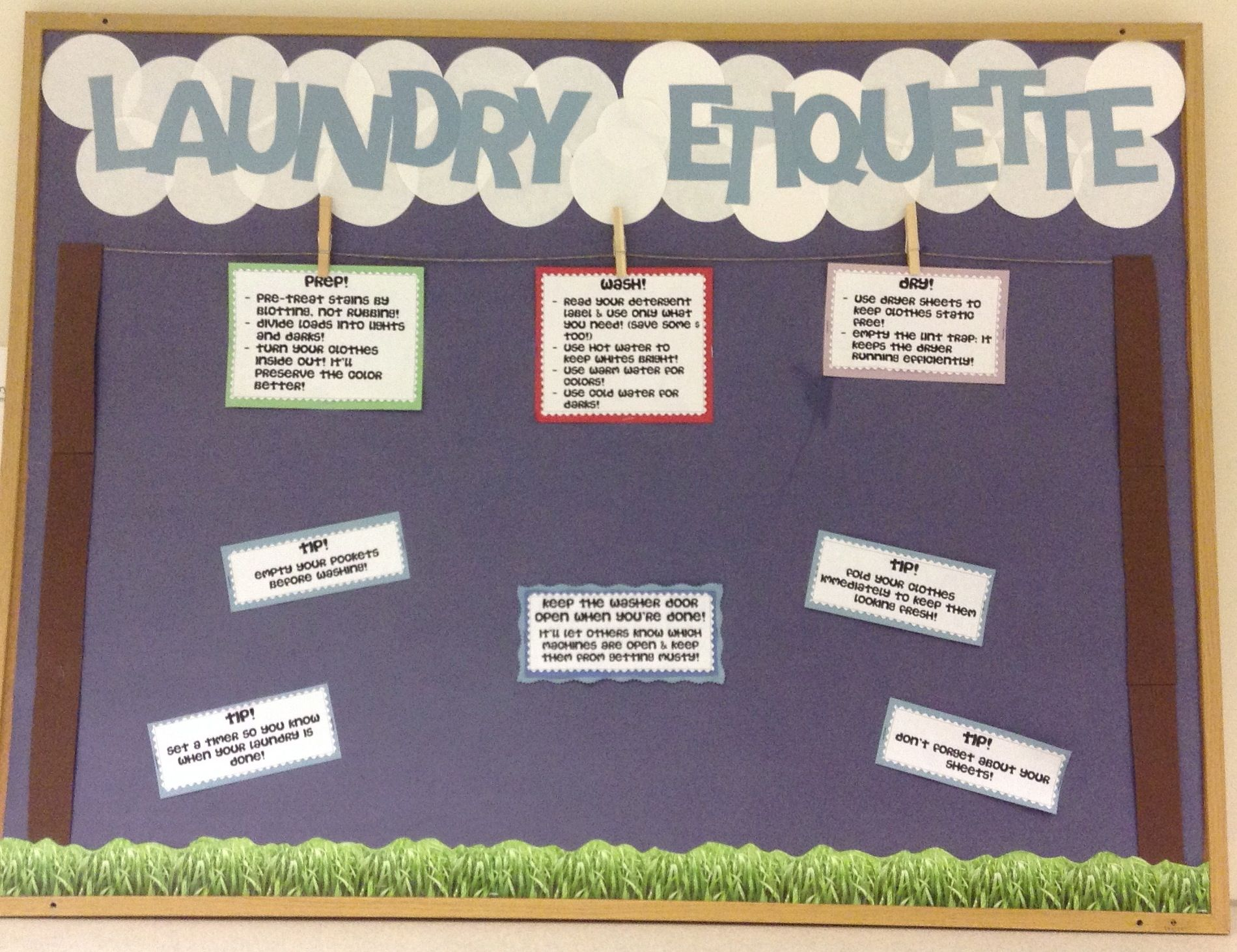 Laundry Etiquette Bulletin Board Tips And Tricks For Incoming