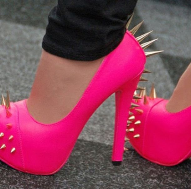 Find Out Where To Get The Shoes | Neon, Studs and Hot pink