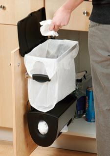 Trash Cans Cabinet Mounted Trash System Stores And