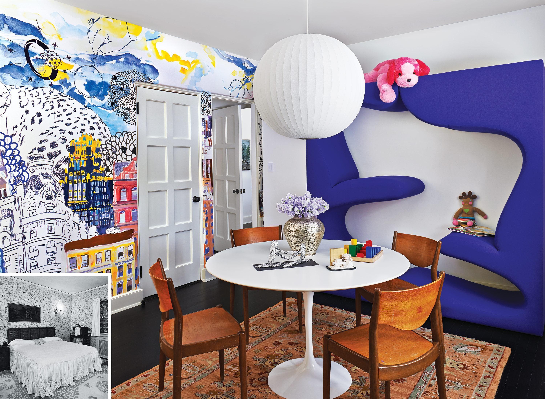 A Very Traditional Tudor Gets An Avant Garde Interior Renovation