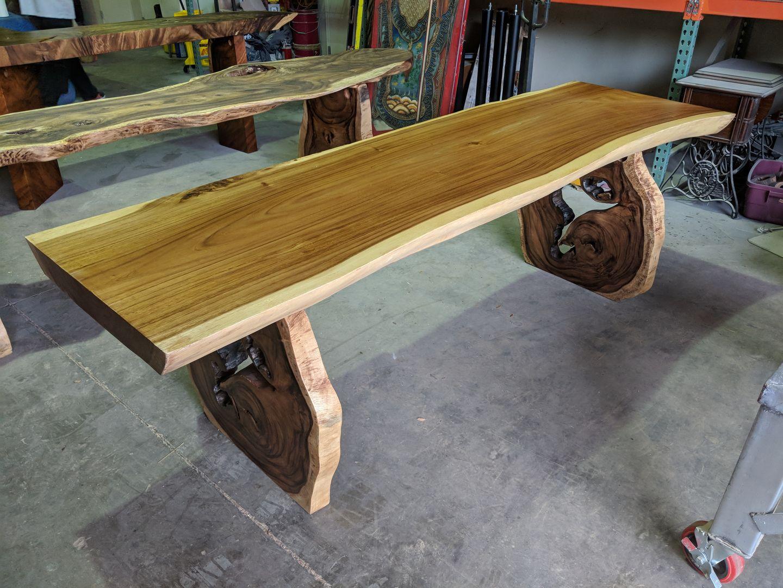 Functional Art Sustainable Wood Furniture Decor Direct Wholesale Warehouse Sarasota Fl Dining Table Live Edge Slab