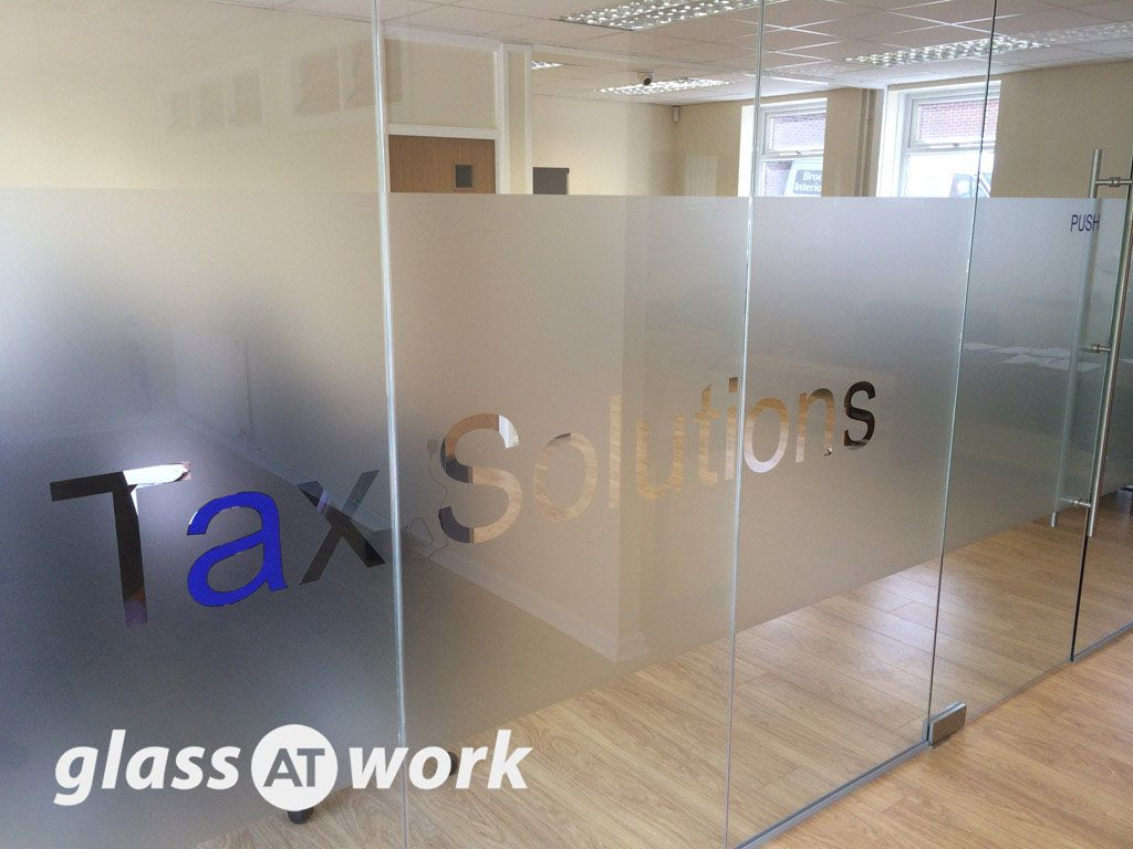 From Glass At Work A Glass Office Partition With Single Door u0026 Manifestation - Tax Solutions Ltd Sheffield. & From Glass At Work: A Glass Office Partition With Single Door ...