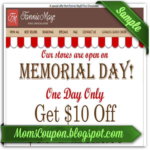 printable Fannie May coupons 20 coupon code February 2015