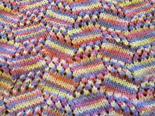 Free Pattern: Tilting Blocks Baby Blanket