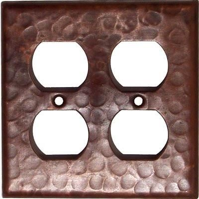 Double Outlet Hammered Copper Switch Plate Cover Products
