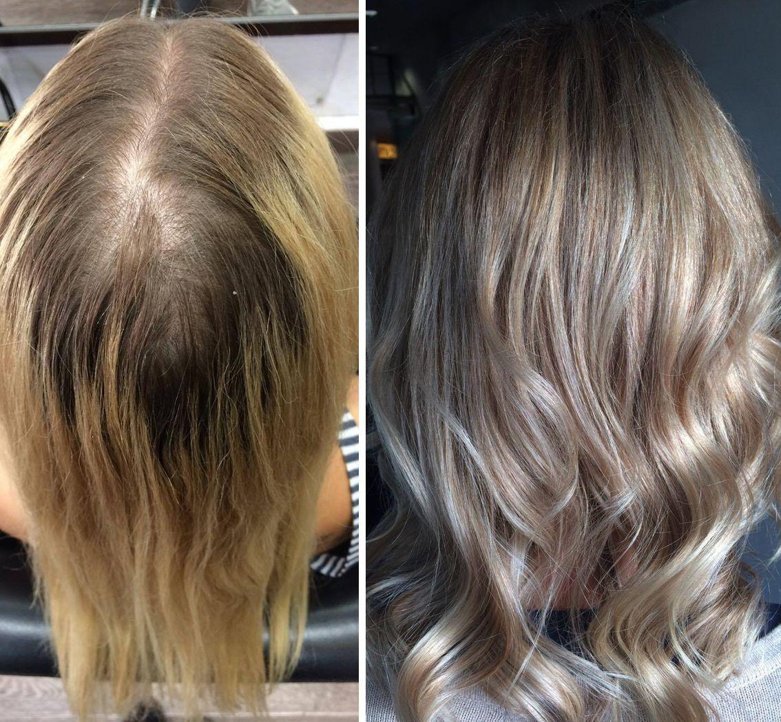 Vorher Nachher Haarfarben Langhaarschnitt Aktuelle Haar Trends