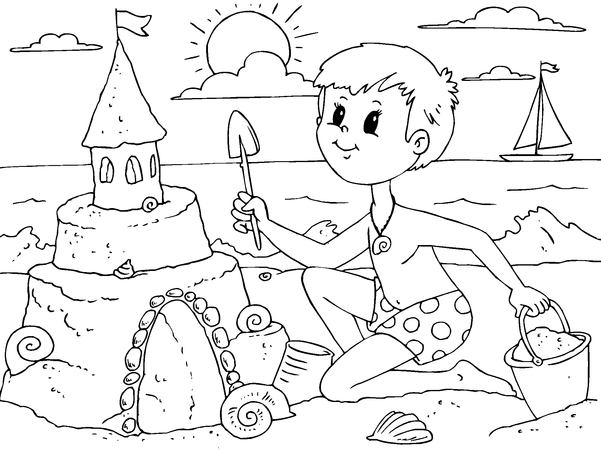 Summer online coloring for kids with online coloring tools ...