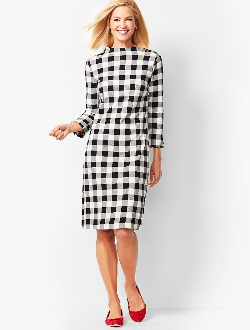 Mockneck Cotton Knit Shift Dress Talbots Knit Shift Dress Shift Dress Striped Shift Dress [ 1057 x 800 Pixel ]