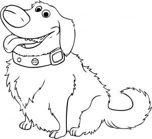 Disney How To Draw Dug From Up Drawings Disney Coloring Pages Up Pixar