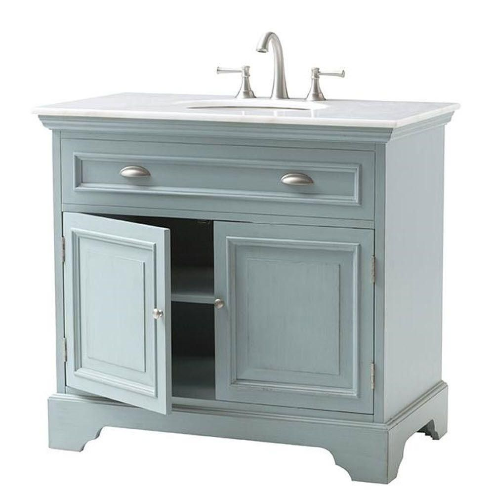 Home Decorators Collection Sadie 38 in Vanity in Antique Light